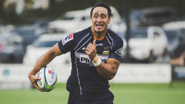 Ready to fly: Lausii Taliauli has been called into the Brumbies starting side this week.