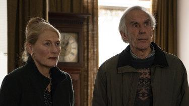 Geraldine James as Caroline and Richard Durden as Oscar in Back to Life.
