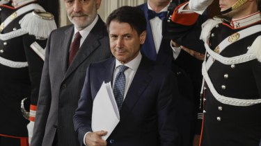 Giuseppe Conte met with the Italian President to confirm that he has been tapped to lead a coalition government.