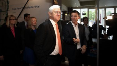 Then prime minister Malcolm Turnbull launches the Western Sydney City Deal with Mark Perich during the 2016 election.