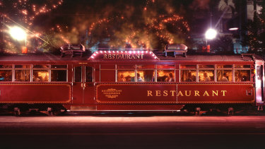 The iconic Melbourne restaurant tram service has temporarily ground to a halt  amid safety concerns.