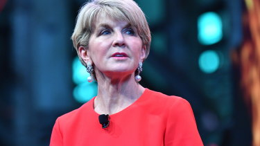 Former foreign minister Julie Bishop has called for more female MPs in the Liberal Party at a conference in Sydney.