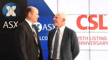 CSL chief executive Paul Perreault (left) told investors about the case at Wednesday's AGM.