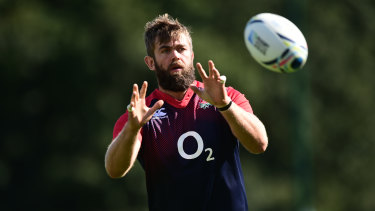 Geoff Parling during his time with England.