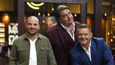 End of an era: Ex-MasterChef judges George Calombaris, Matt Preston and Gary Mehigan pitch for a new cooking show format.