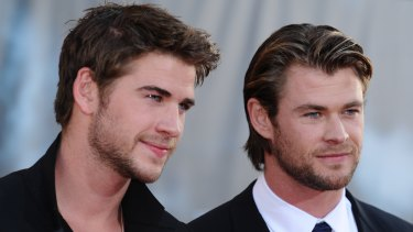 The Hemsworth brothers - Liam and Chris.