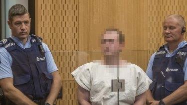 Alleged gunman Brenton Tarrant appears before court in Christchurch.