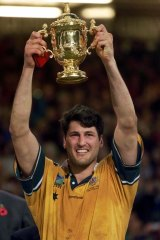 Former Wallabies captain John Eales pictured after winning the 1999 World Cup.