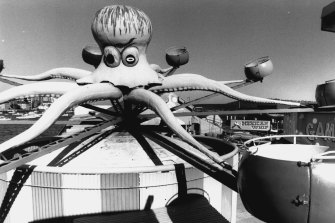 The Octopus at the Manly Fun Pier in 1986.