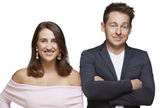 Going out on a high: KIIS FM Melbourne's breakfast presenters Jase and PJ.