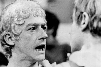 John Hurt as Caligula, left, and Derek Jacobi as Claudius in the BBC series I Claudius.