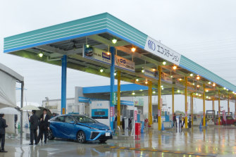 A hydrogen station for fuel-cell vehicles in Japan, where the development of a  hydrogen-based economy is a priority.