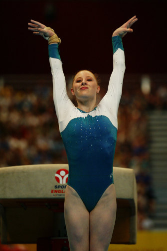 Allana Slater after a winning routine.