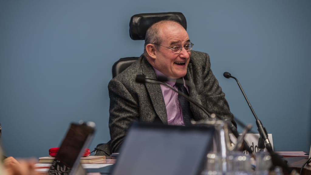 David Heckendorf was one of seven participants and carers who shared their stories with the ACT inquiry on Tuesday.