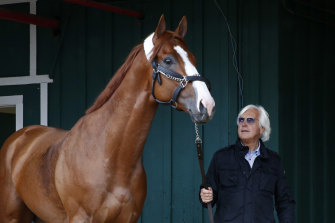 Trainer Bob Baffert with 2018 Triple Crown winner Justify.