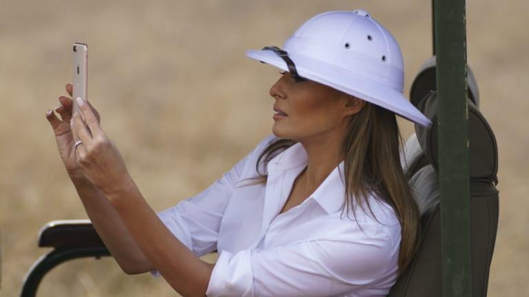 Melania Trump's pith helmet in Africa caused a stir.