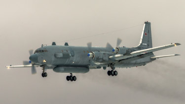 An IL-20 electronic intelligence plane of the Russian air force similar to the one downed in Syria last week.