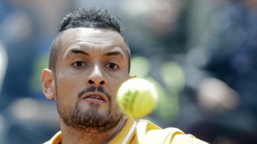 Serving up some gold: Nick Kyrgios didn't miss several of his contemporaries in a New York Times interview.