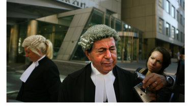 Nicola Gobbo (left) outside court with barrister Con Heliotis, QC, after Tony Mokbel failed to show up for his trial in March 2006. Mokbel went on the run and was arrested in Greece the following year.
