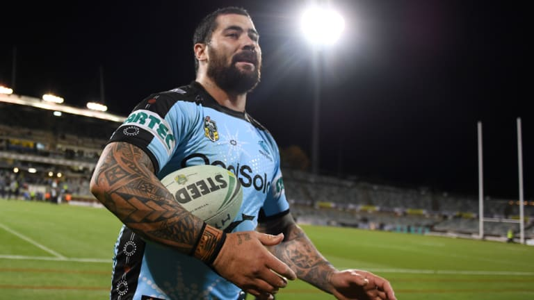 Selection headache: Andrew Fifita is available to be picked for State of Origin in games one and three.