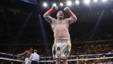 Shocker: Andy Ruiz has stunned the boxing world with his win.