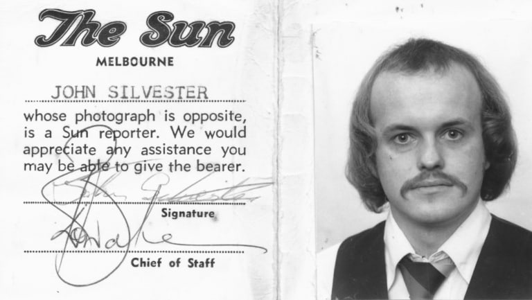 40 years in the business: John Silvester's press pass from his days at <i>The Sun</i>.