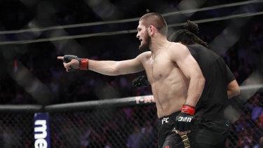 Wild: Nurmagomedov went after McGregor's camp immediately after the win, but both fighters have been suspended.