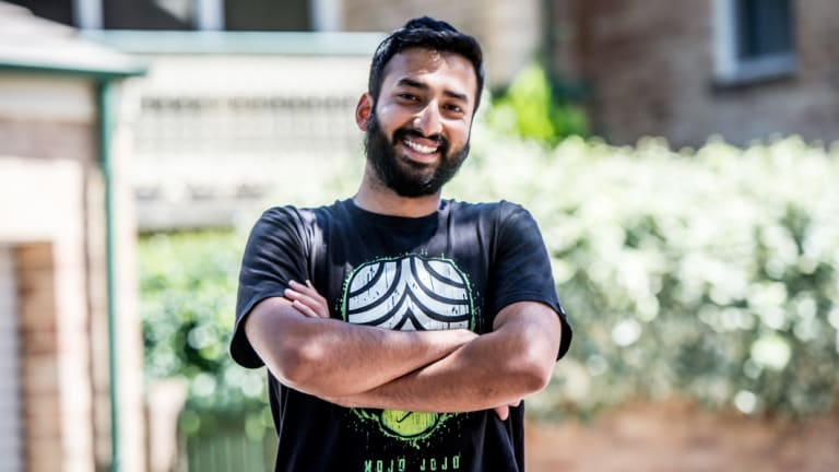 ANU postgraduate student Varun Nair has struggled to find affordable accommodation in Canberra.