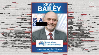 Kevin Bailey poster altered on Tonightly with Tom Ballard skit.