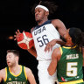 Boomers fall short against dominant USA in front of a record crowd
