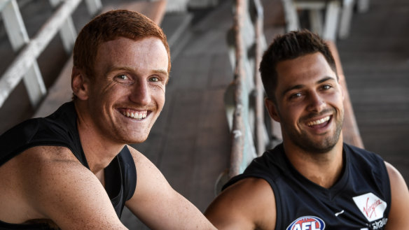 Tools down, boots on: Carlton's VFL recruits relishing seachange