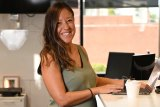 Fiona Sarkissian is back at her standing desk.
