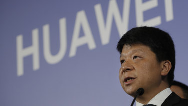 Huawei rotating chairman Guo Ping launches a US court challenge to a law that labels the company a security risk.