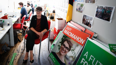 Amy MacMahon during the 2017 state election campaign.