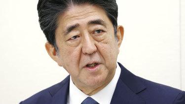 Former Japanese prime minister Shinzo Abe.