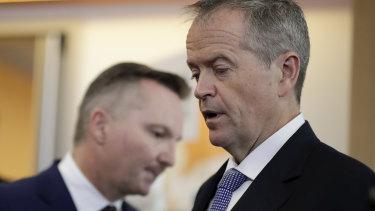 Opposition Leader Bill Shorten and shadow treasurer Chris Bowen have said their super policies will raise $30 billion.