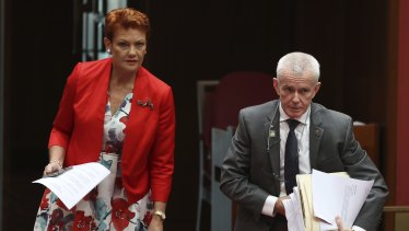 One Nation senators Pauline Hanson and Malcolm Roberts voted against wage theft laws, despite saying they support them.