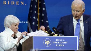 US Treasury Secretary Janet Yellen has been a big supporter of Joe Biden's $US1.9 trillion spending package.