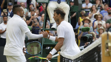The pair have exchanged insults off the court, and the tension was just as high on the court.