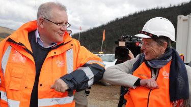 Prime Minister Scott Morrison and Liberal candidate for Eden-Monaro Dr Fiona Kotvojs.