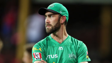 The elbow injury flared up during the Big Bash final on Saturday, in which Glenn Maxwell led Melbourne Stars.