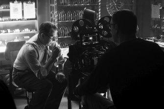 """Gary Oldman portrays Herman Mankiewicz in a scene from """"Mank""""."""