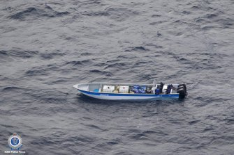 One of the boats allegedly carrying cocaine that was intercepted.