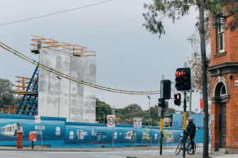 Redfern-Waterloo has been earmarked for more intensive development around the Metro station, which is under construction on Botany Road.