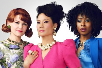 Ginnifer Goodwin, Lucy Liu and Kirby Howell-Baptiste in Why Women Kill.