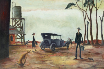 Russell Drysdale 1941's Going to the Pictures sold for $2,945,455 in November.