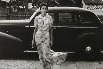 <i>Lynn and the Buick</i> (1976), part of the Hobart collection of Jerrems' works.