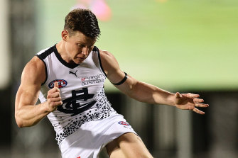 The Blues are up and so is Carlton midfielder Sam Walsh.