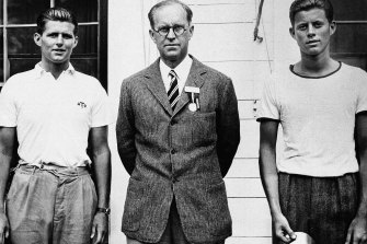 Joseph Kennedy, with his two sons ,   Joseph Kennedy jnr, left, and John F. Kennedy, right, in 1937.