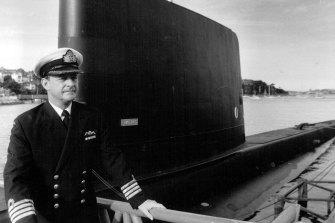 Submariner Captain Ian MacDougall at HMAS Platypus in May, 1985.